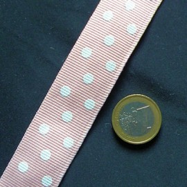 Belting,grosgrain with dots, bag handles  2,5cm, 25mms.