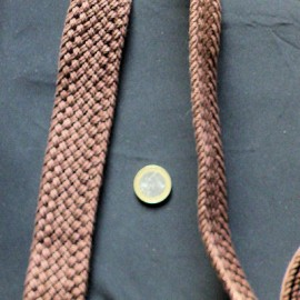 Braided belt thickens leather craft, supple, sold by 10 cms