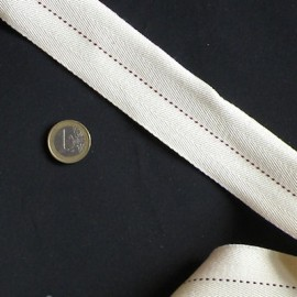 Belting cotton Leather craft accessories and supplies 4 cm sold by 10 cms