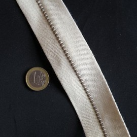 Belting cotton overstiched Leather craft accessories and supplies 4 cm sold by 10 cms