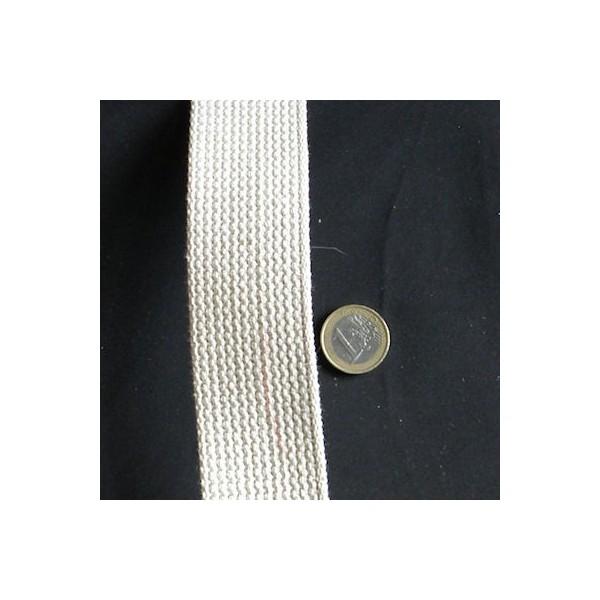 Sangle coton épaisse maroquinerie, souple, 4 cm par 10 cm