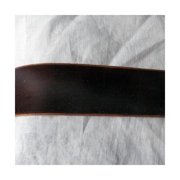 Ruban velours noeud décoration  sacs, 2,5 cm, 25 mm large par 10 cm: