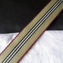 Cotton Belting stripped bag handles  4 cms large sold by 10 cms..