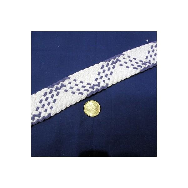 Sangle coton épaisse tressée, anse sacs fourniture maroquinerie 4 cm.
