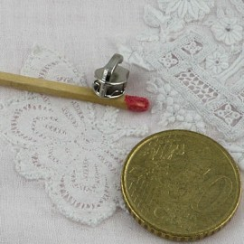 Curseur métallique fermeture glissière nylon 5 mm sac,  fourniture maroquinerie.