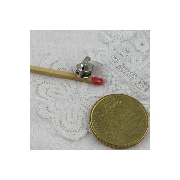 Curseur métallique luxe pour fermeture glissière sac,  fourniture maroquinerie.