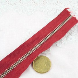 Fermeture rouge glissière métal 6 mm sac maroquinerie, au mètre
