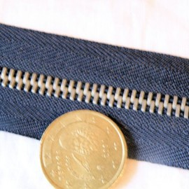 Fermeture marine glissière métal 6 mm sac maroquinerie, au mètre