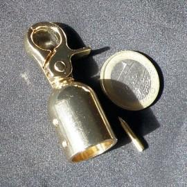 Mousqueton métallique luxe attache cordelière