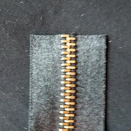 Bag accessories Zipper closure nickel teeth 7 mms sold by meter