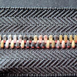 Fermeture glissière luxe 3 ors 8 mm sac maroquinerie bijou