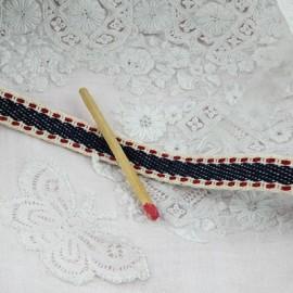 Ruban coton surpiqué galon décoratif épais bordure anse sacs, 1 cm large par 10 cm
