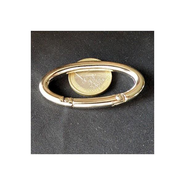 Anneau ovale métal 55 mm.