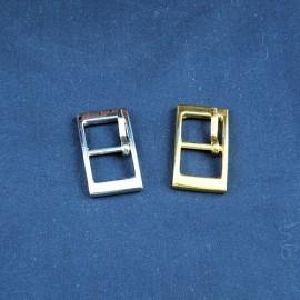 Boucle rectangulaire petite, boucle languettre, pochette, 2 x  1,3 cm.