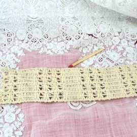 Row Cotton lace embroidery ribbon 5 cms sold by 10 cms