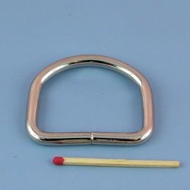 Grand Demi anneau matériel fabrication sac boucle métal fournitures maroquinerie 5 cm.