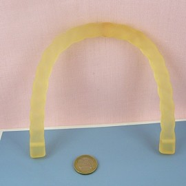 Matt cord Plastic handle bag purse 15 cms.