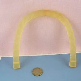 Anse torsadée plastique poignée sac maroquinerie 15 cm