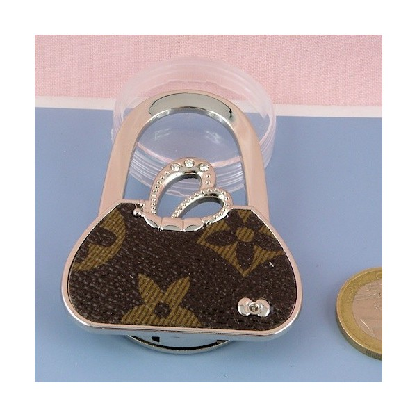 Metal purse holder, bag hook 6 cms