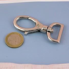 Mousqueton métallique luxe fournitures maroquinerie  7 cm, 70 mm,