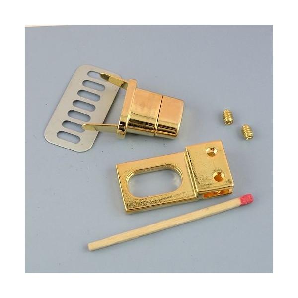 Metallic clasp handbag 3 parts, Hermes style, 6 cms.