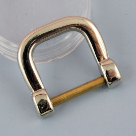 "Buckle stirrup ""D"" ring, dee, half ring, 3 cms"