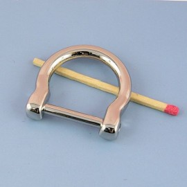 "Buckle stirrup ""D"" ring, dee, half ring, 32 mm"