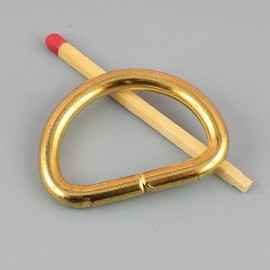 "Purse Buckle ""D"" ring, dee, half ring, 27 mm"