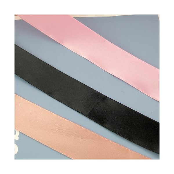 Ruban satin décoration, renfort anse sacs,23 mm large par 10 cm: