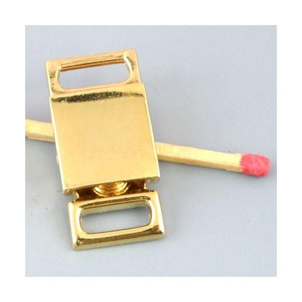 Fermoir métallique trois parties fournitures maroquinerie, 5 cm.