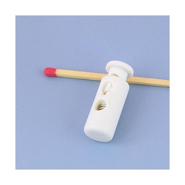 Bloqueur lacet Arrêtoir deux trous en plastique cordon