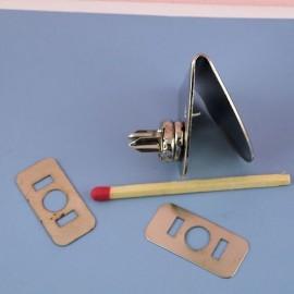 Crochet Fermeture pression à rebord fournitures maroquinerie 3 cm.