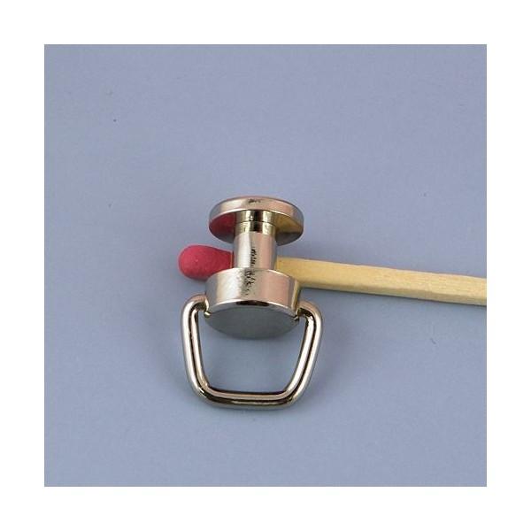 Plot anneau métallique luxe pour sac,  bouton col.