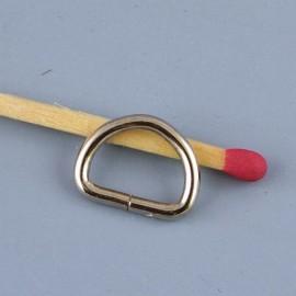 Demi anneau D boucle métal
