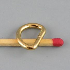Demi anneau D boucle métal fournitures maroquinerie 14mm.