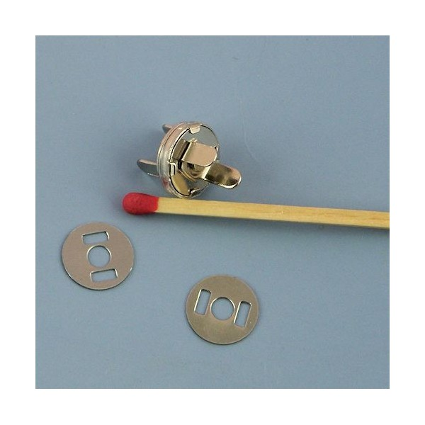Fermeture magnétique pression aimantée fournitures maroquinerie 10 mm