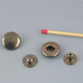 Bouton pression métal à emboutir 14 mm