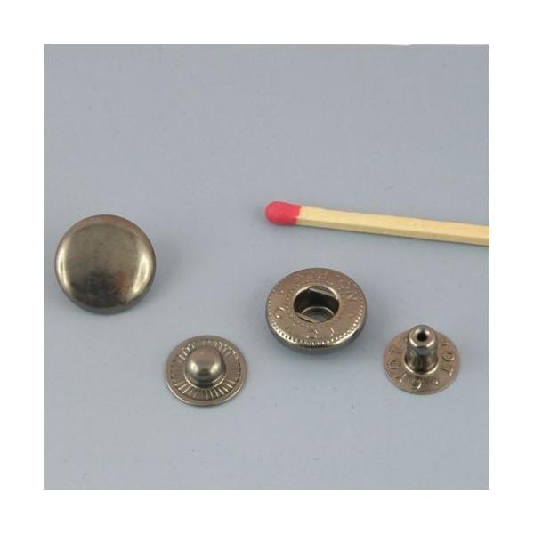 Bouton pression métal à emboutir 14 mm fournitures maroquinerie.