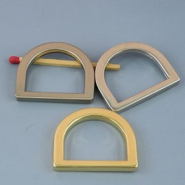 "Buckle stirrup ""D"" ring, dee, half ring, 23mm"