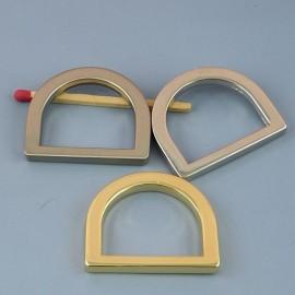 Demi anneau D boucle métal fournitures maroquinerie 33 mm.