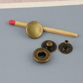 Bouton pression métal à emboutir 12 mm fournitures maroquinerie.