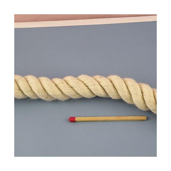 Corde souple marin torsadée coton, anse sac 14 mm.