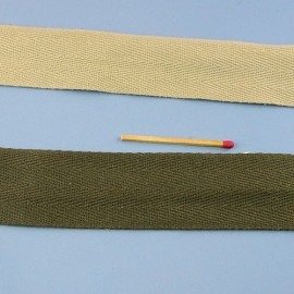 Cotton Belting, cotton twill tape bag handles decoration 25 mms sold by 10 cms