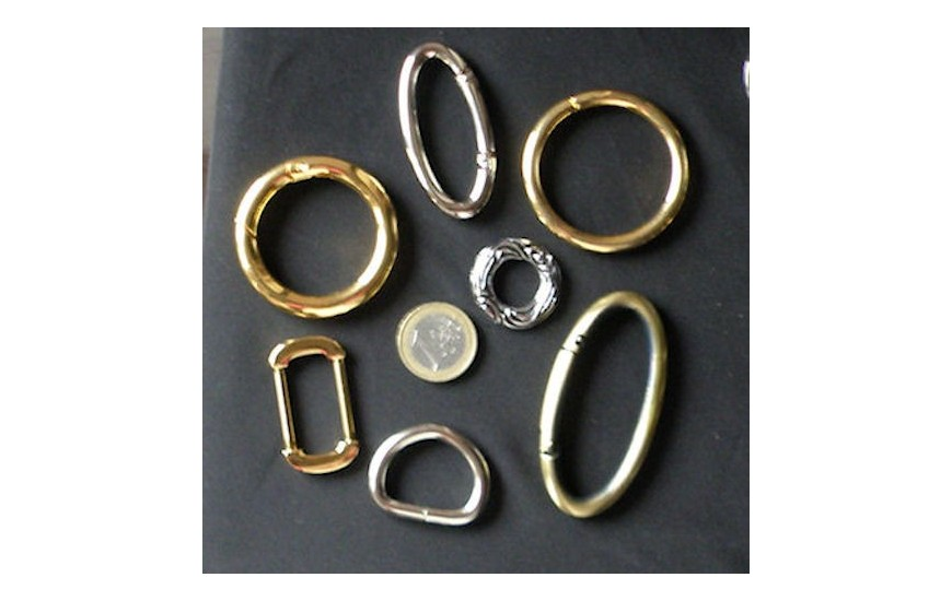 Ring, buckle, metallic circle or D ring