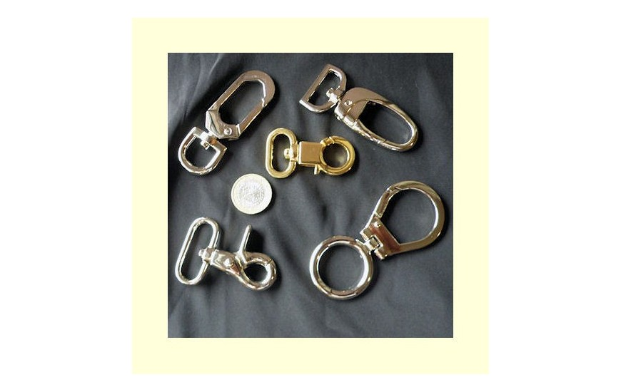 Swivel metal hook belt
